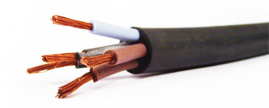 Flexible multi-core silicone rubber insulated and sheathed power cables (SiSi/F)